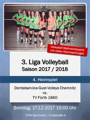 Heimspiel Dentalservice-Gust-Volleys Chemnitz vs TV Fürth 1860